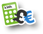 Energy savings calculator icon
