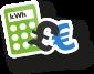 Energy savings calculator icon
