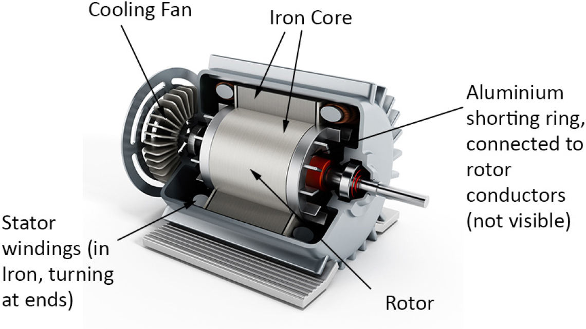 Induction Motor Cut Away