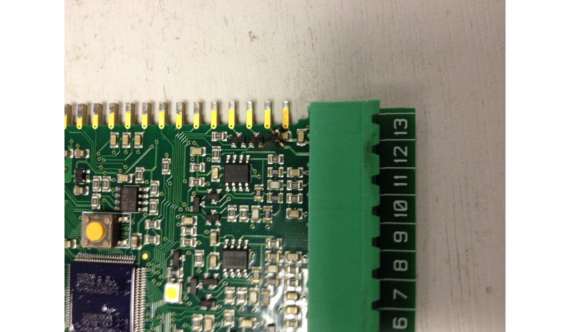 Damaged PCB caused by Supply connected to Control Terminals