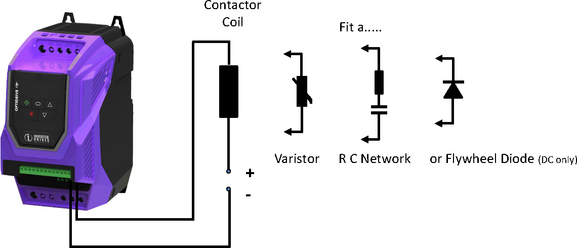 Suppressing an Inductive load on a relay