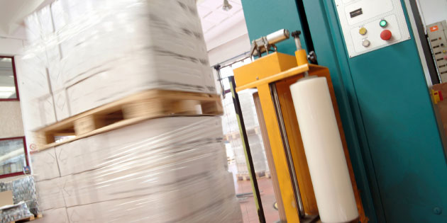 Pallet wrapping machines use drives to ensure goods aren't damaged