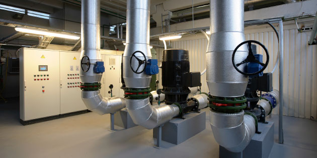 Heating, ventilating and air conditioning systems are easily automated using variable frequency drives