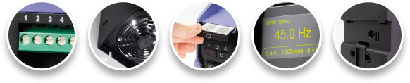 P2 Variable Frequency Drive features
