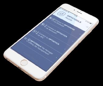 Optitools Mobile on Smart Phone