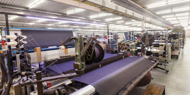 Textile machines benefit from the high speed capability of variable frequency drives